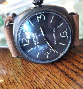 Новые часы Панераи Радиомир с кожаным ремешком