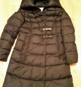 Пальто черное синтепоновое