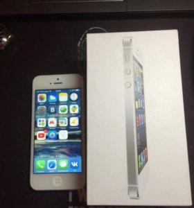 iPhone 5 silver/white 16 gb LTE