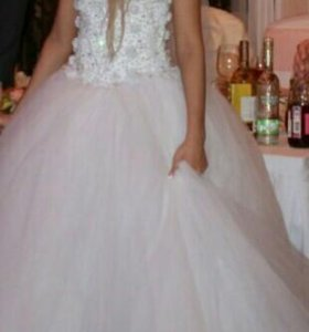 Свадебное платье(40-42),шубка и туфли 36 размера