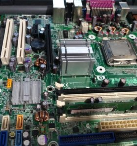 Связка на материнке 775+проц+память +кулер