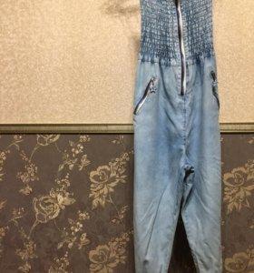 Комбинезон джинсовый лёгкий с мотней