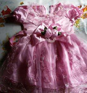 Платье на годик можно на 2 года