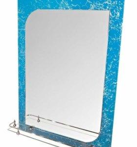 Зеркало в ванную с полочкой