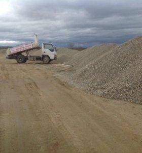Песок,ГПС-заводской,галька,щебень,отсев,отходы.
