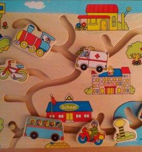 Игрушка деревянная, транспорт. Б/у