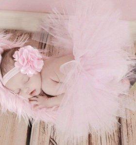 Пачка и повязка с цветочком на голову