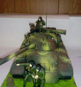 Диорама танка Т-80 в масштабе 1:35