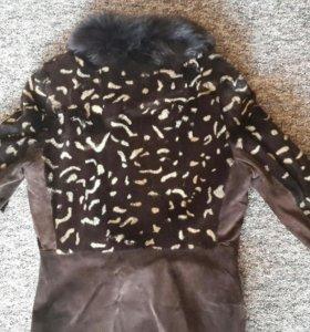 Куртка натуральная замша , мех