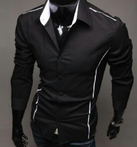 Новая стильная черная рубашка
