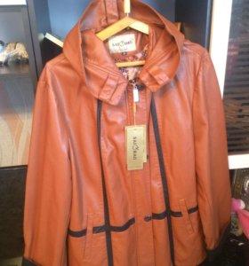 Куртка кожанная новая