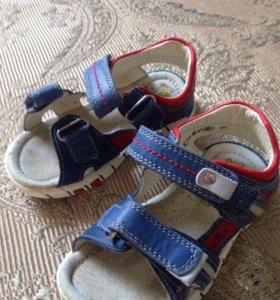 """Кожаные сандали """"сказка"""" 25р-р"""