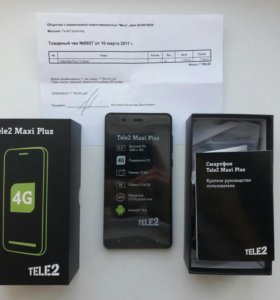 Телефон Tele 2 Maxi plus НОВЫЙ