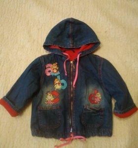 Джинсовая куртка рост 86-92.