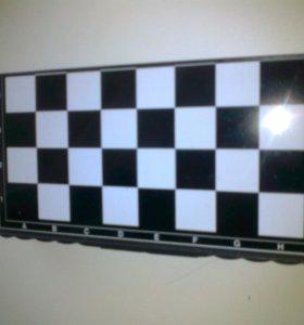 Магнитные мини шашки шахматы