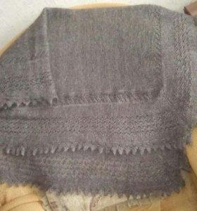 Пуховая шаль, ручная вязка.