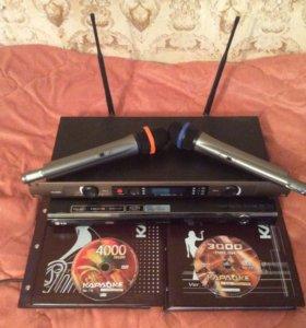 Вокальные радиомикрофоны+DVD-караоке LG