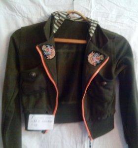 Куртка олимпийка с капюшоном новая