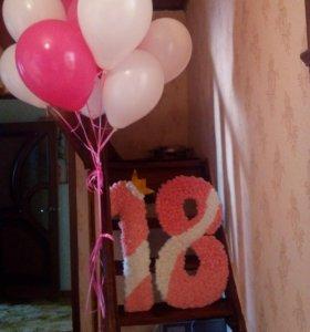 Цифры для декора дня рождения 18