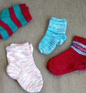 Тёплые,вязаные носочки