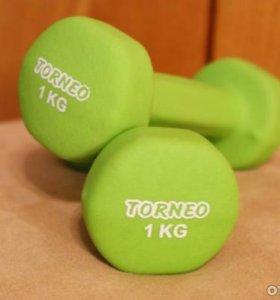 Гантели Torneo 1 кг (2шт)