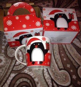 2 кружки с пингвинами