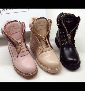 ботинки balmain розовые