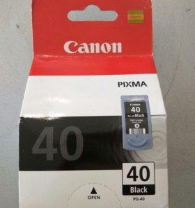 Картридж Canon  pg-40 черный