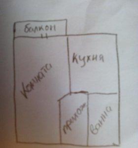 Квартира 1 ком. 31 кв.м