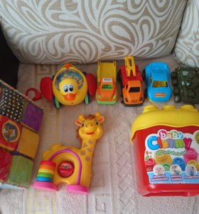 6мес+ пакет игрушек развивающие