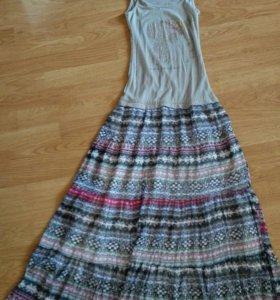 Летнее макси платье,44