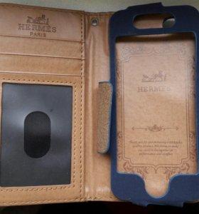 Кожаный чехол HERMES для IPhone 5