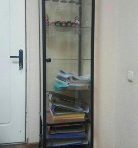 3 шкафа стеклянные б/у