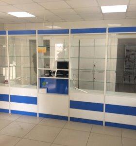 Новая Аптечная мебель: витрины, стилажы, шкафы.
