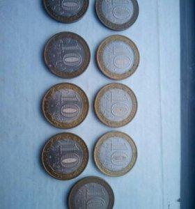 монеты юбилейные разных годов