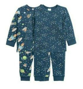 2 пижамы H&M НОВЫЕ! 68 см.