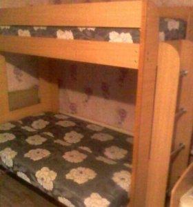 2-хярустая кровать