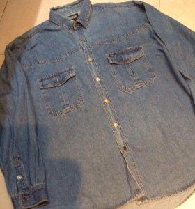 Рубашка мужская джинсовая р XXL(52-54)