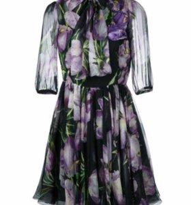 Платье новое из  шёлка Dolce & Gabbana