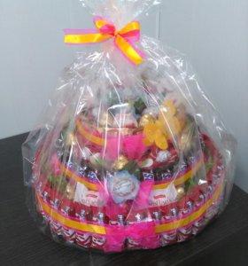 Торты из конфет