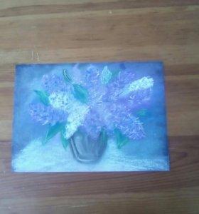 Рисунок сухой пастелью.
