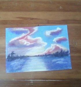 Рисунок сухой пастелью