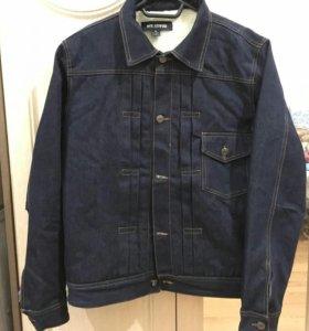 Джинсова куртка с теплым подкладом