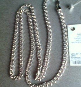 Новая серебряная цепь 27 гр