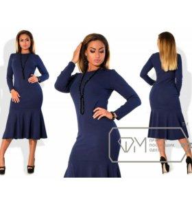 Платье крепидайвинг цвета синий