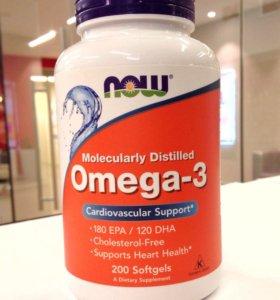 Омега 3, Omega 3 200cap от NOW