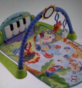 развивающий коврик пианино fisher price