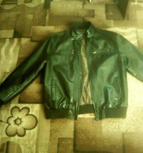 Куртка коженая , мужская
