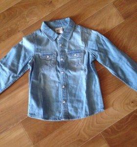 Джинсовые рубашки для девочки