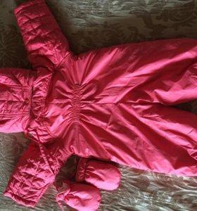 Новый комбинезон розовый 74 размер
